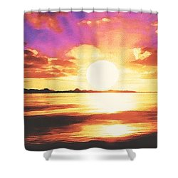 Into The Sunset Shower Curtain