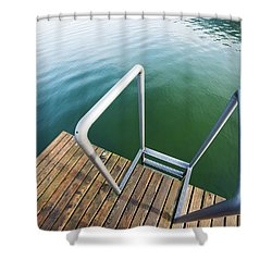 Shower Curtain featuring the photograph Into The Water by Chevy Fleet
