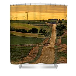 Into The Wind Shower Curtain by Nikolyn McDonald