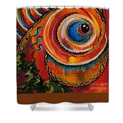 Intuitive Spirit Eye Shower Curtain