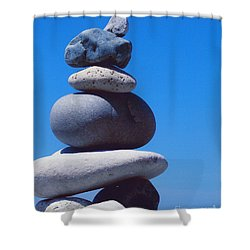 Inukshuk 1 By Jammer Shower Curtain by First Star Art