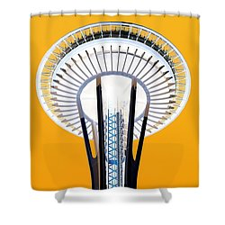 Inverted Needle Shower Curtain by Chris Anderson