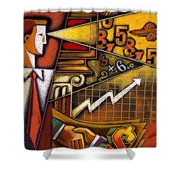 Investor Shower Curtain by Leon Zernitsky