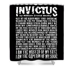 Invictus - Grunge Style Shower Curtain