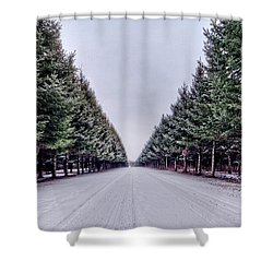 Invitation From The Pines Shower Curtain by Everet Regal