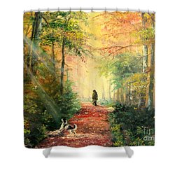 Invitation To Walk   Shower Curtain