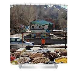 Iran Kandovan Spices Shower Curtain by Lois Ivancin Tavaf