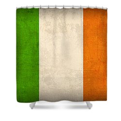 Ireland Flag Vintage Distressed Finish Shower Curtain by Design Turnpike
