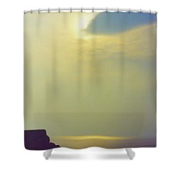Ireland Giant's Causeway Ethereal Light Shower Curtain by First Star Art