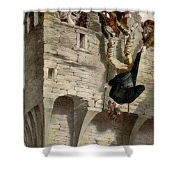 Shower Curtain featuring the painting Ireland The Blarney Stone by Granger