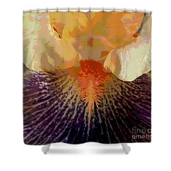 Iris Beard Shower Curtain by Sally Simon