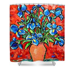 Iris Bouquet Shower Curtain by Ana Maria Edulescu