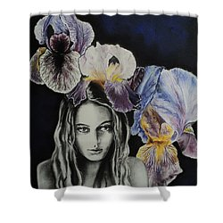 Iris Shower Curtain by Carla Carson