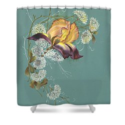 Iris Garland Shower Curtain