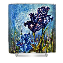 Iris Shower Curtain by Harsh Malik