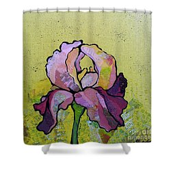 Iris IIi Shower Curtain by Shadia Derbyshire