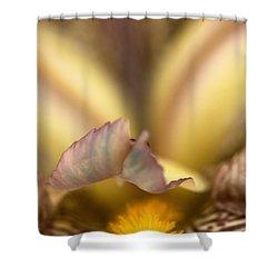 Iris Mouth Shower Curtain by Joy Watson