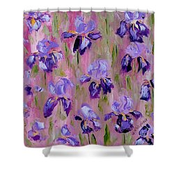 Iris Pattern Shower Curtain