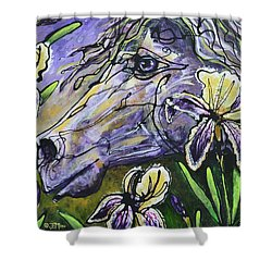 Iris Upon A Star Shower Curtain