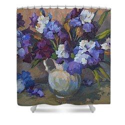 Irises Shower Curtain by Diane McClary