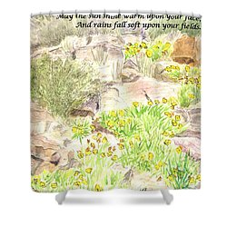 Irish Blessing Shower Curtain