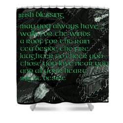 Irish Blessing Stitched In Time Shower Curtain