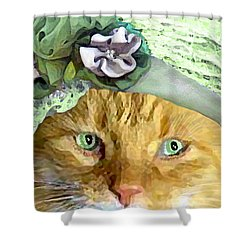Irish Cat Shower Curtain