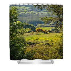 Irish Countryside In Spring Shower Curtain