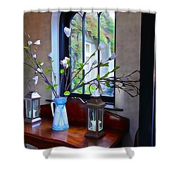 Shower Curtain featuring the photograph Irish Elegance by Charlie and Norma Brock