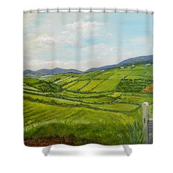 Irish Fields - Landscape Shower Curtain