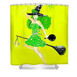Irish Kitchen Witch Shower Curtain by Alys Caviness-Gober