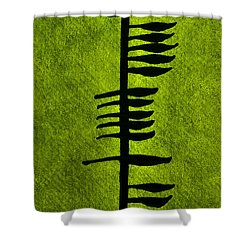 Irish Ogham Meaning Health Shower Curtain