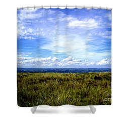 Irish Sky Shower Curtain by Nina Ficur Feenan