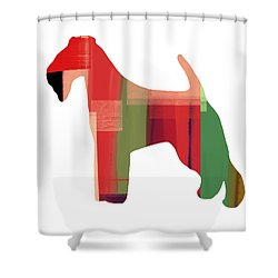 Irish Terrier Shower Curtain by Naxart Studio