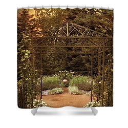 Iron Entrance Shower Curtain by Jessica Jenney