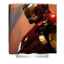 Iron Man Shower Curtain by Micah May