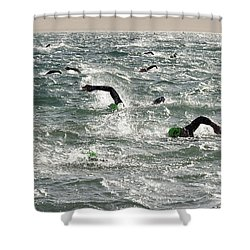 Ironman 2012 Sheer Determination Shower Curtain by Bob Christopher