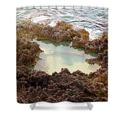 Shower Curtain featuring the photograph Ironshore Tidewater Pool by Amar Sheow