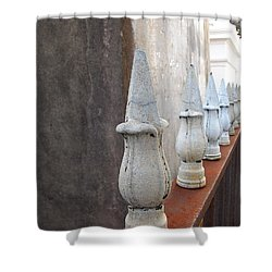 Shower Curtain featuring the photograph Ironwork by Beth Vincent