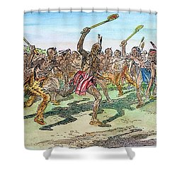 Iroquois - Lacrosse.  Shower Curtain by Granger