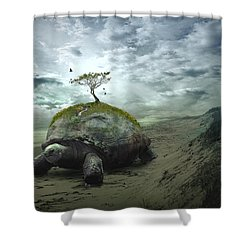 Iroquois Creation Story Shower Curtain by Rick Mosher