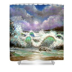 Shower Curtain featuring the painting Irresistible Force  by Patrice Torrillo