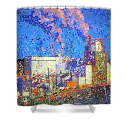 Irving Pulp Mill II Shower Curtain