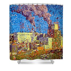 Irving Pulp Mill Shower Curtain