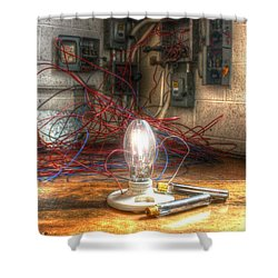 Is This Right Mr. Edison? Shower Curtain