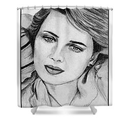 Isabella Rossellini In 1983 Shower Curtain by J McCombie