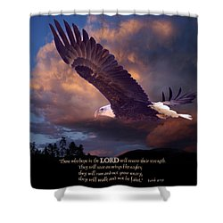 Isaiah 40 31 Shower Curtain