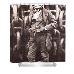 Isambard Kingdom Brunel  Shower Curtain by Robert Howlett