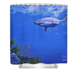 Pacific Great White Shower Curtain by Noe Peralez