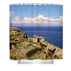 Isla Del Sol Shower Curtain by Suzanne Luft